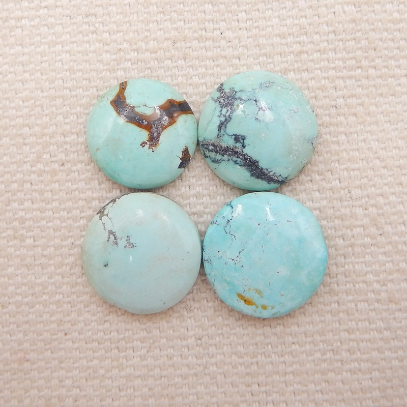 D1277 - 12.5cts Lucky Turquoise, Handmade Gemstone, Turquoise Cabochons, Lu