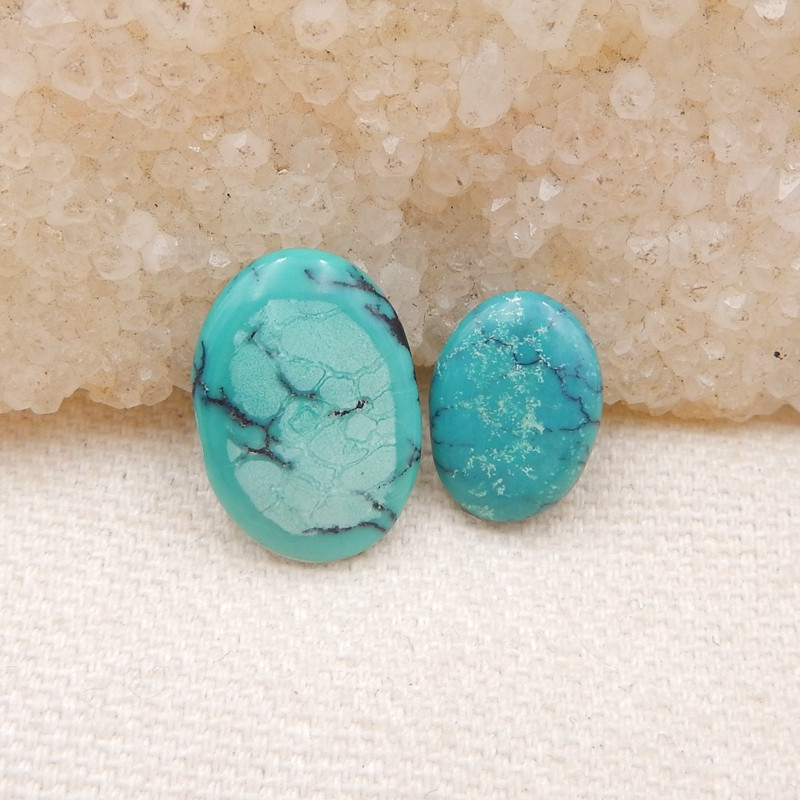 D1293 - 9cts Lucky Turquoise, Handmade Gemstone, Turquoise Cabochons, Lucky