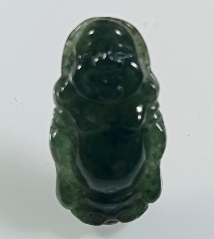Natural Grade A Jadeite Jade Maitreya Carving Pendant