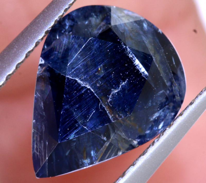 3.58CTS UNHEATED  CERTIFIED AUSTRALIAN BLUE SAPPHIRE GEMSTONE TBM-1307
