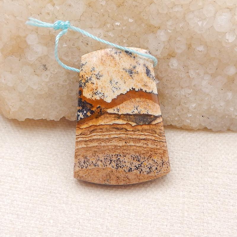 P0122 68 ct Natural Picture Jasper Pendant Bead