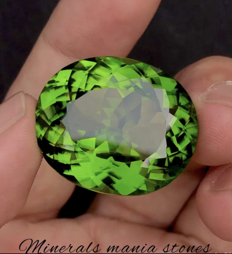 64.30 Carat Natural Forest Green  Color Peridot Gemstone