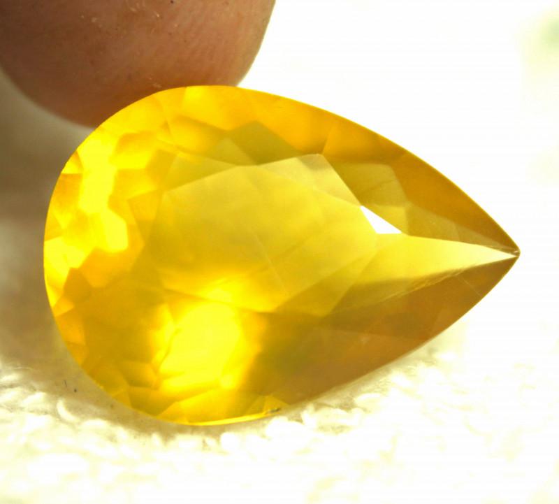 15.96 Carat Golden Yellow Mexican Fire Opal - Gorgeous