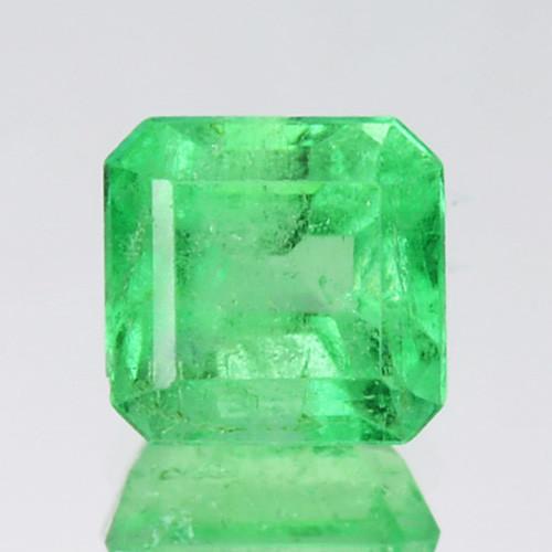 0.57Cts Natural Vivid Green Emerald Octagon Cut Colombia