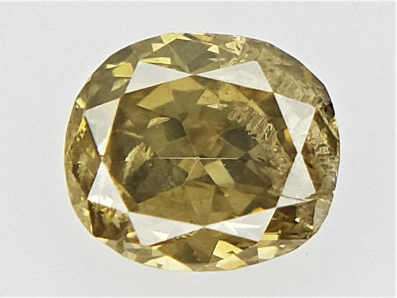 0.10 cts  , Oval Brilliant Cut Diamond , Natural Green Colored Diamond