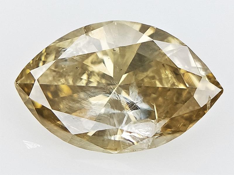 0.77 cts Marquise Brilliant Cut Diamond , Natural Champagne Diamond
