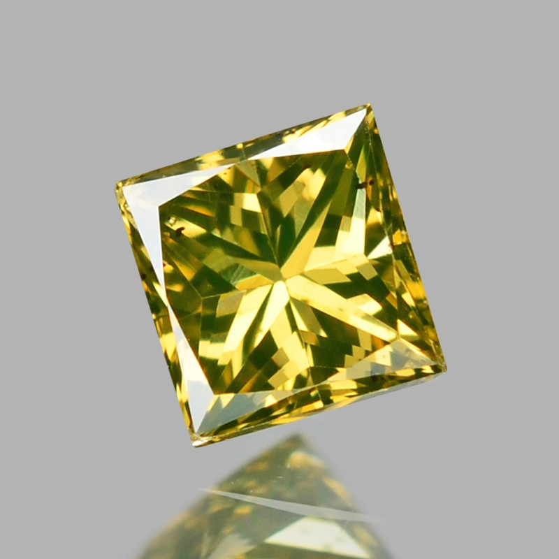 *NoReserve*Diamond 0.07 Cts Rare Yellow-Green Color Natural  VS Clarity