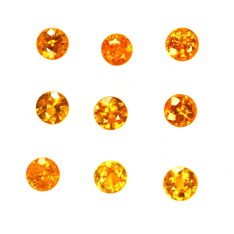 2.50 Cts Natural Fanta Orange Spessartite Garnet 3.5-3.3mm Round Namibia