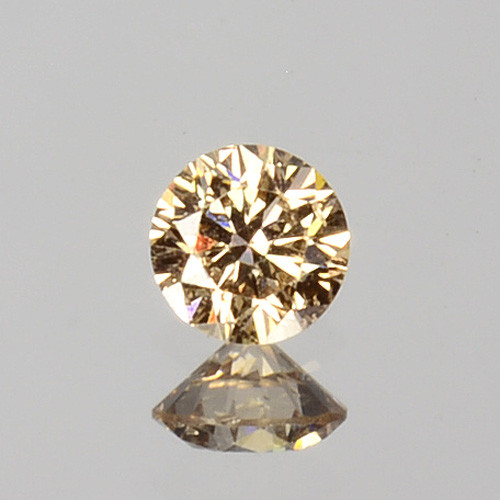 ~UNTREATED~ 0.04 Cts Natural Peach Diamond 2.3mm Round Cut Africa