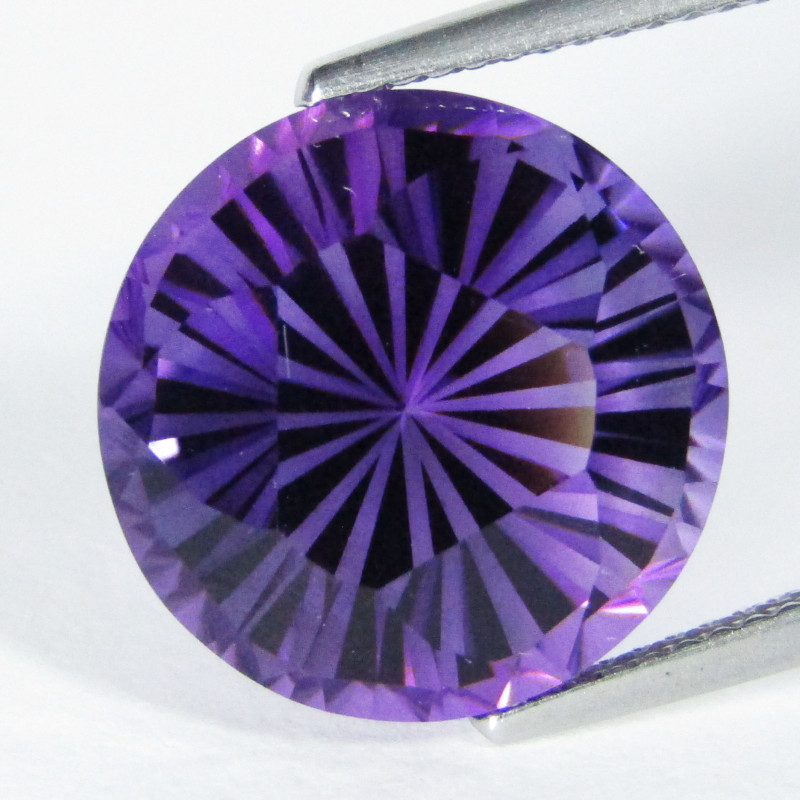 12.48Cts Beautiful Natural Amethyst Round precision Cut Loose Gem