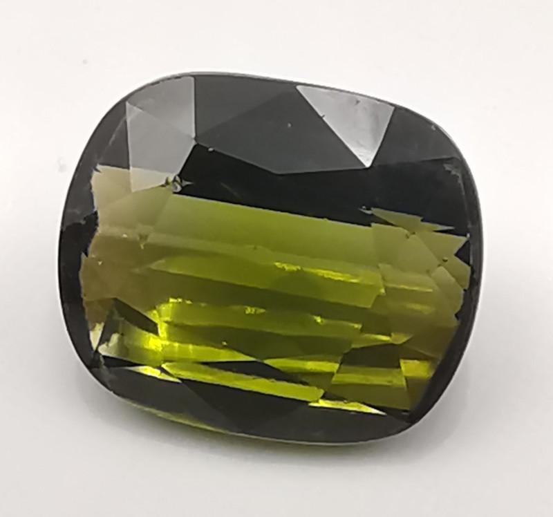 Tourmaline, 4.575ct, mossgreen very beautiful topgrade gem!