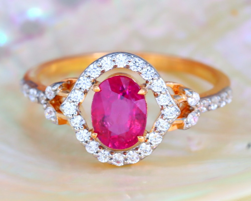 Unheated Ruby ring
