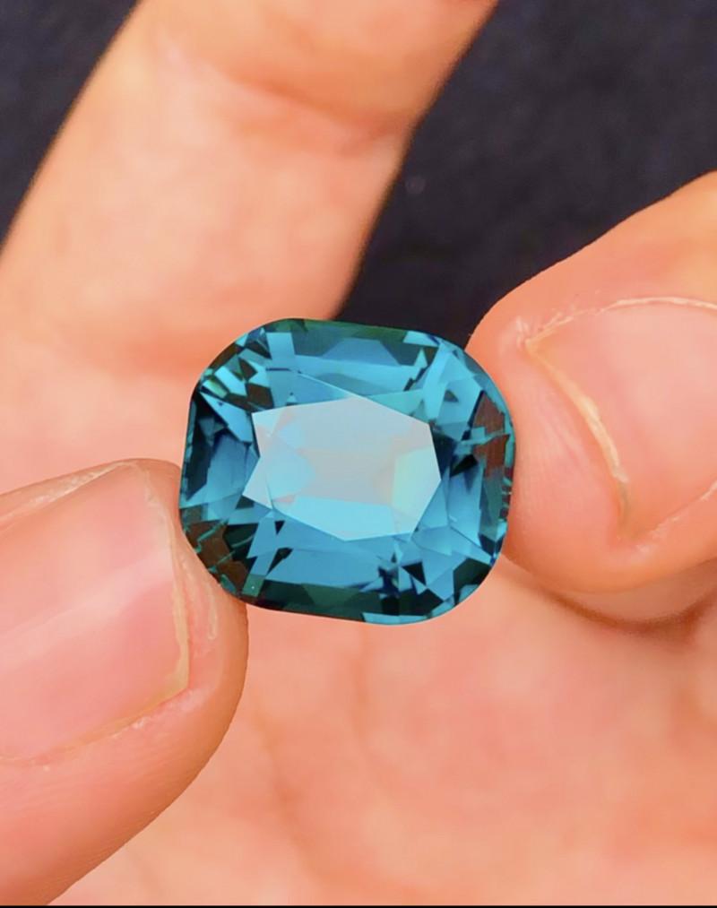15.25 Carat One Of Best Sapphire Blue Indicolite Tourmaline