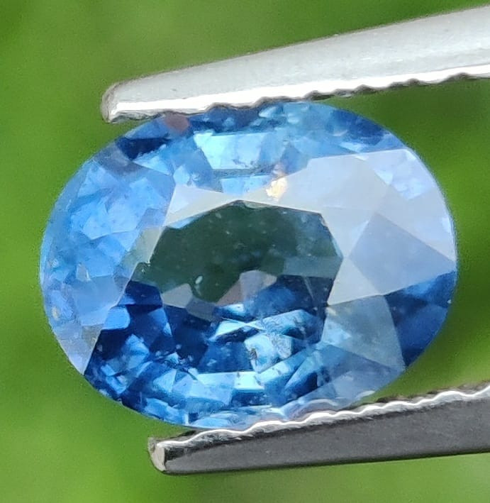 1.10 CTS AWESOME BLUE SAPPHIRE HEATED FACETED GENUINE