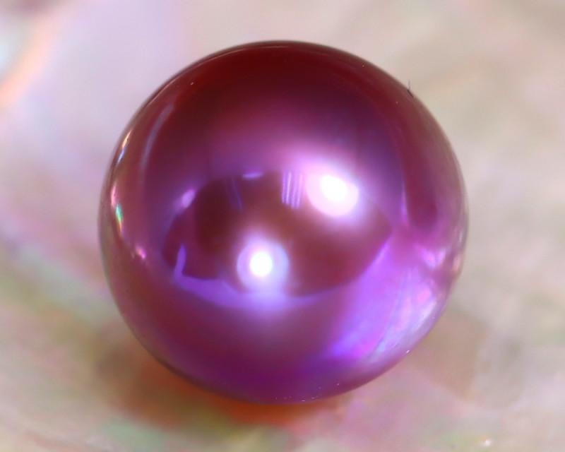 12.4mm 13.32Ct Natural Tahitian Purple Black Pearl C0522