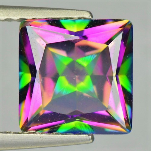 1.60 Cts Rare Fancy Rainbow Colors Natural Mystic Topaz