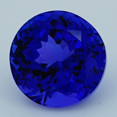 4.50 CT 9X9 MM D Block Rare Find Natural Blue Tanzanite T1-21