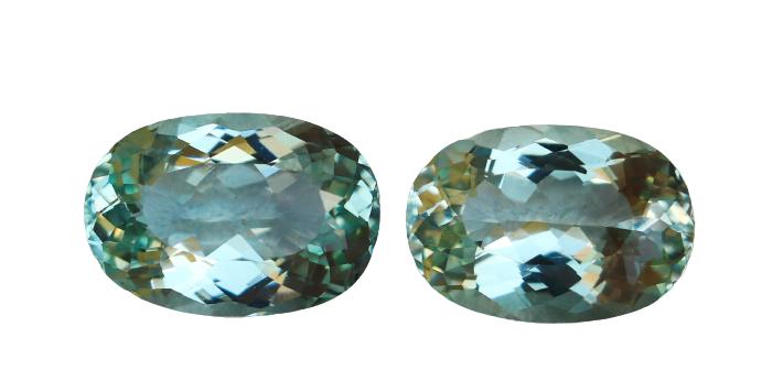 8.50 Cts Natural & Unheated~ Blue Aquamarine Gemstone Pair