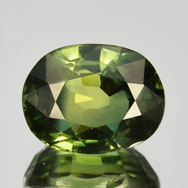 3.17 Cts Natural Sapphire Beautiful Green Pretty Oval Cut Australia