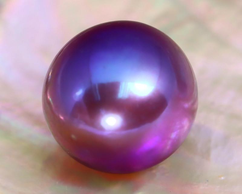 11.7mm 10.98Ct Natural Tahitian Purple Black Pearl A0503
