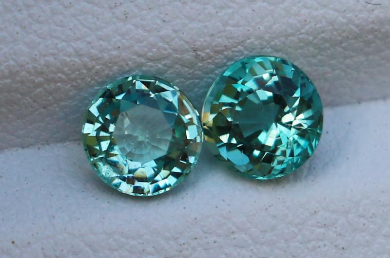 1.45 Cts Natural & Unheated~ Blue Aquamarine Gemstone Pair
