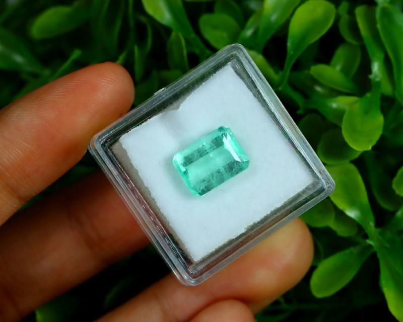 Emerald 2.73Ct Colombian Muzo Emerald Neon Mint Green Beryl A0528