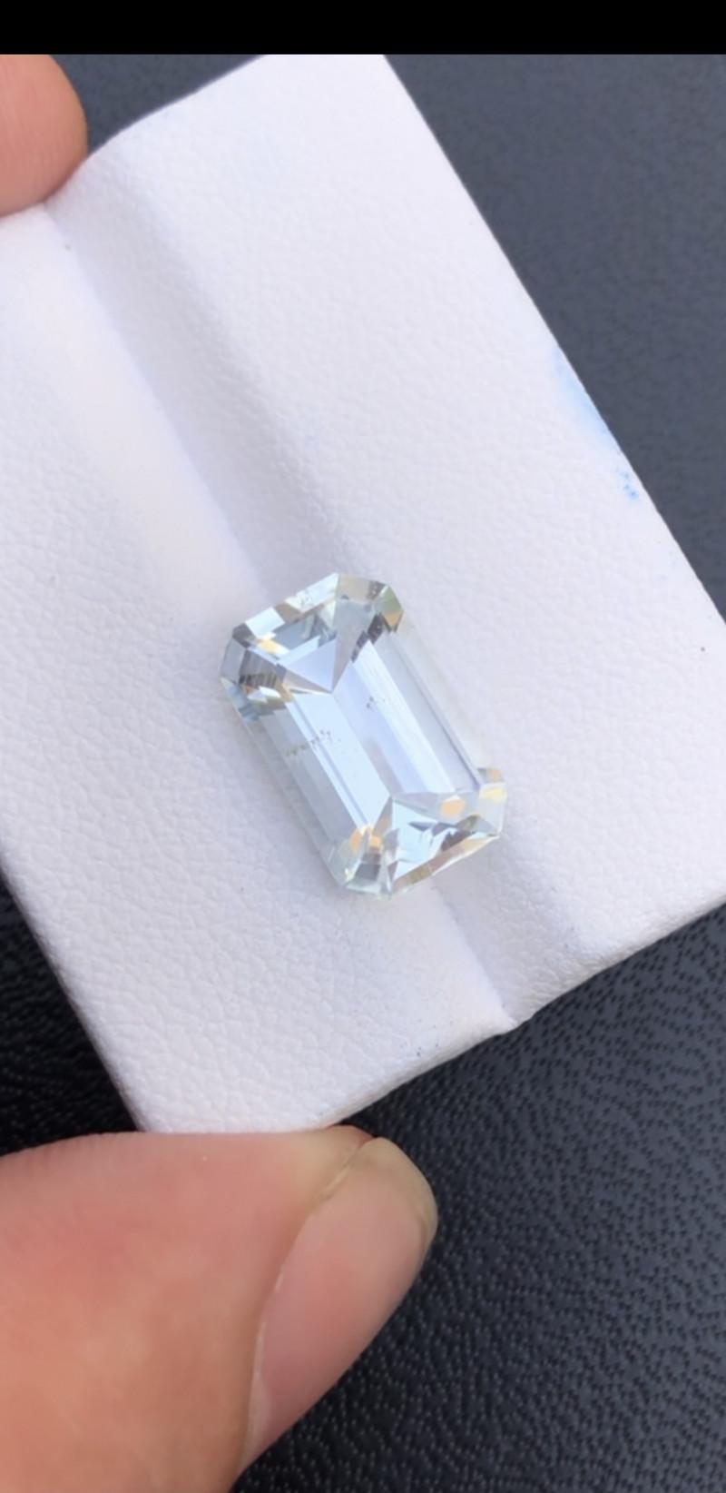 Emerald Cut Aquamarine 4.50Ct Natural  Beautiful Aquamarine Gemstone