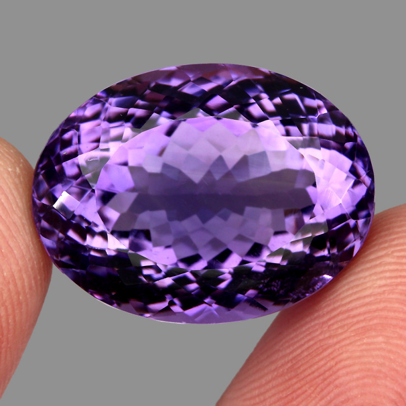 34.44 ct Natural Earth Mined Top Quality Unheated Purple Amethyst,Uruguay