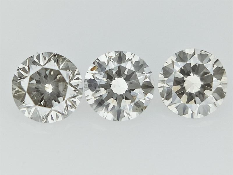 0.29 cts  Round Brilliant Cut , Light Colored Diamond