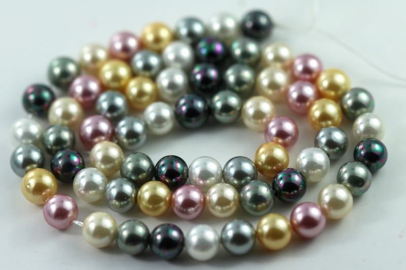6 mm Shell Pearl colour Strand  AHA 622