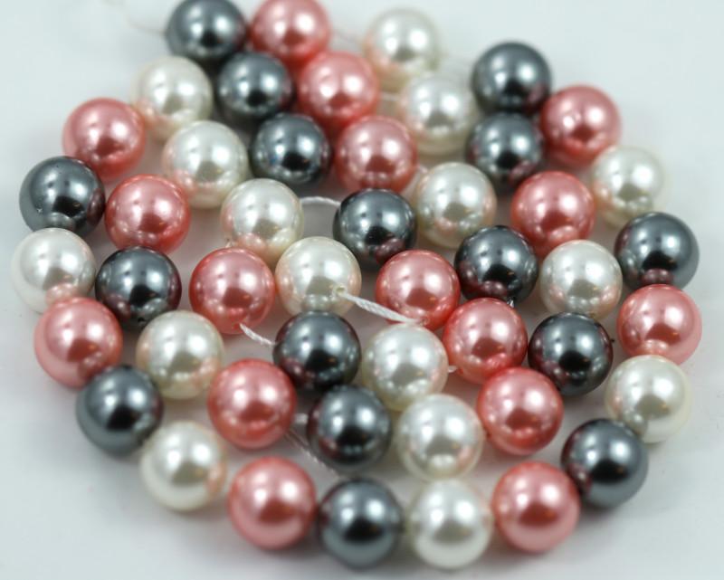 8 mm Shell Pearl colour Strand  AHA 633