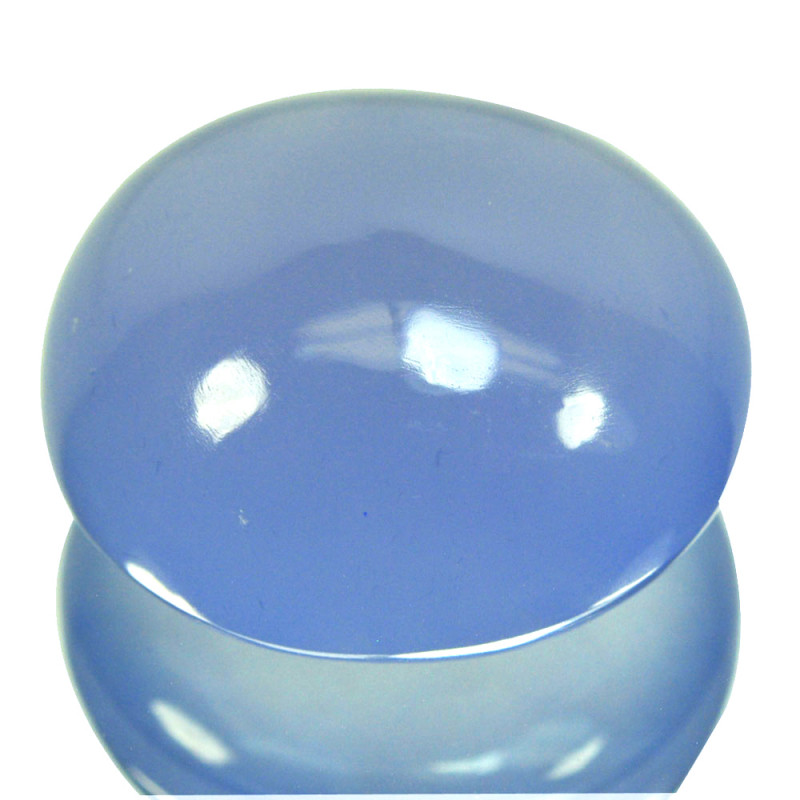~UNTREATED~ 23.15 Cts Natural Blue Chalcedony Oval Cabochon Brazil
