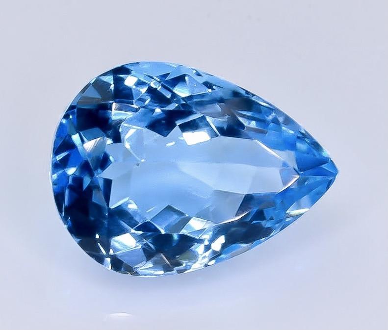 10.59 Crt Topaz Faceted Gemstone (Rk-14)