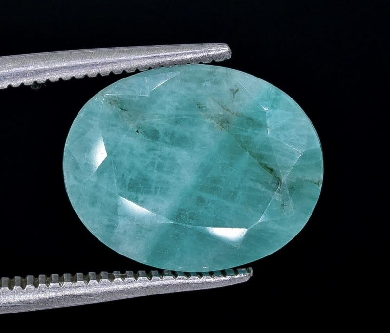 4.41 Crt Emerald Faceted Gemstone (Rk-14)