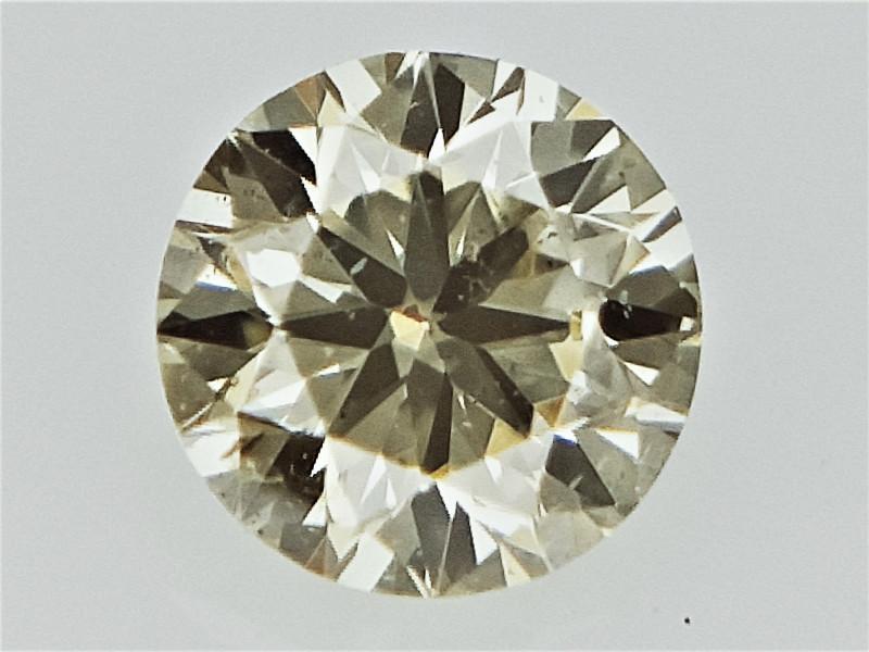 0.09 cts  Round Brilliant Cut , Light Colored Diamond