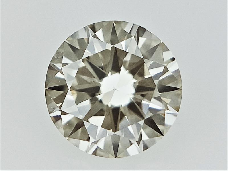 0.24 cts   Round Brilliant Cut , Light Colored Diamond