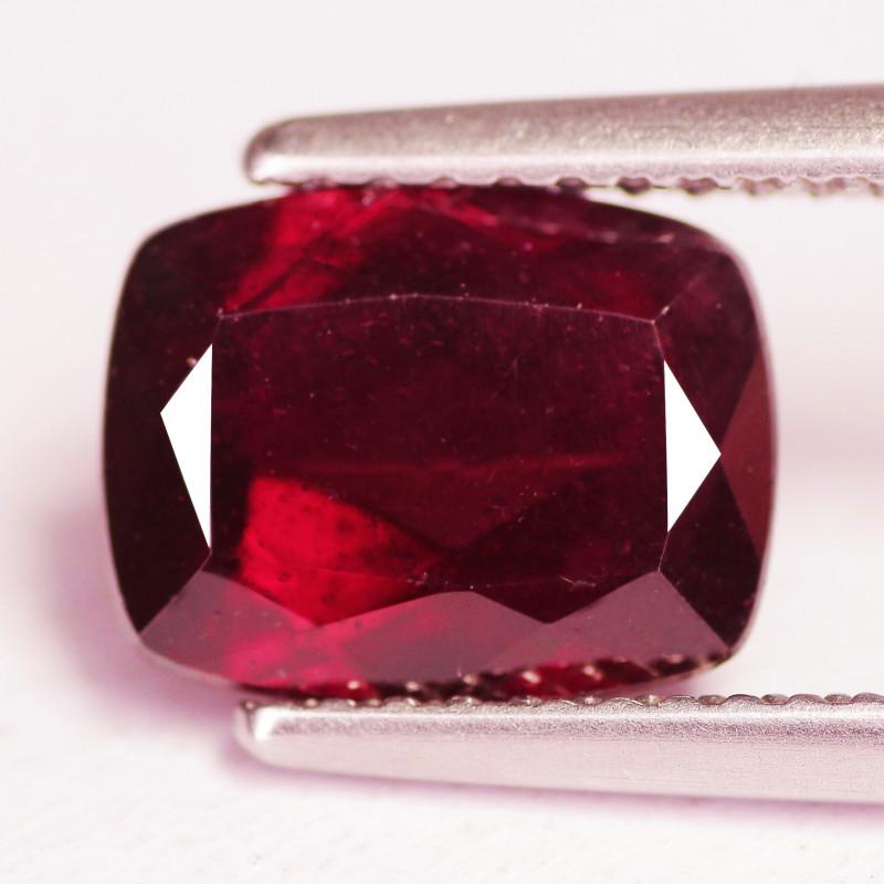 2.76 Cts Unheated Deep Red Color Natural Rhodolite Garnet Gemstone