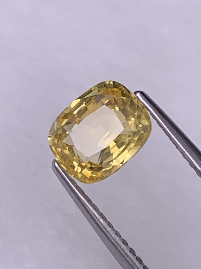 Certified 1.87 Cts Srilanka AAA Grade Jasmine Yellow Unheated Sapphire