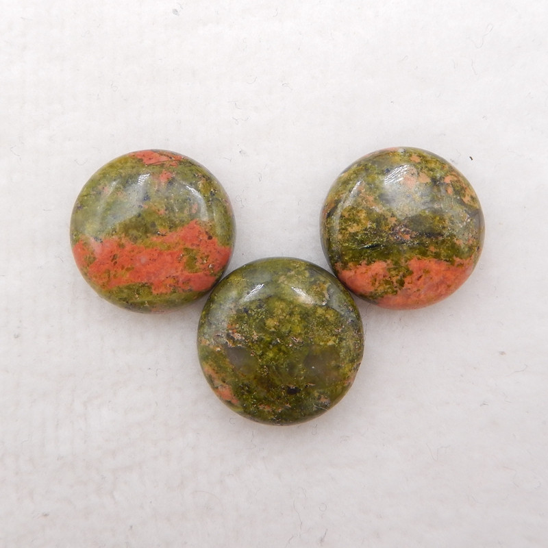 D1562 - 34cts natural unakite jasper cabochons pair,natural gemstone caboch