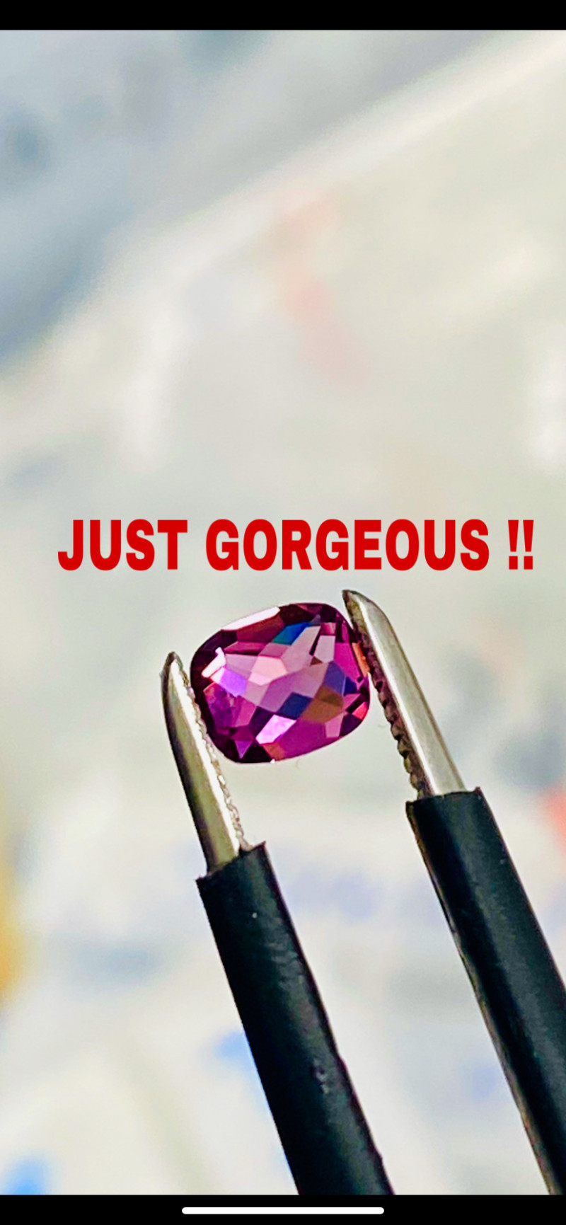 0.51CT - SPINEL-ROSE - JUST GORGEOUS! PERFECT SIZE FOR JEWELLERY- MASTER CU