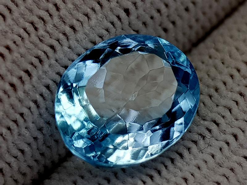 5.55CT BLUE TOPAZ BEST QUALITY GEMSTONE IIGC55