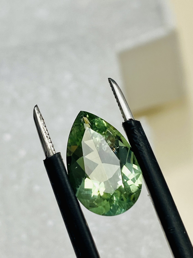 TOURMALINE .-WITH RUTILE INCLUSION-  VERY CHEAP-Flawless-FROM COLLECTOR