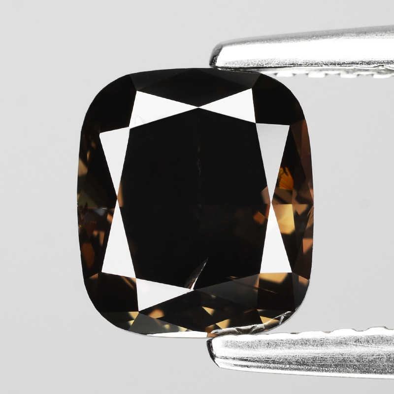 Diamond 1.57 Cts Untreated Natural Fancy Dark Brown Color