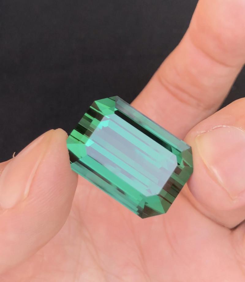 48.15 Carat Perfect Fancy Emerald Cut Greenish  BlueTourmaline