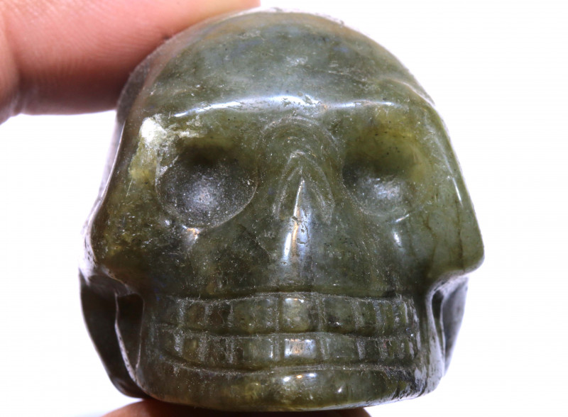 494cts Labodorite Skull Carving  LT-1060 lightningtreasures