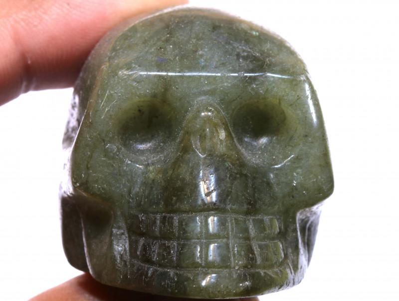 489cts Labodorite Skull Carving  LT-1061 lightningtreasures
