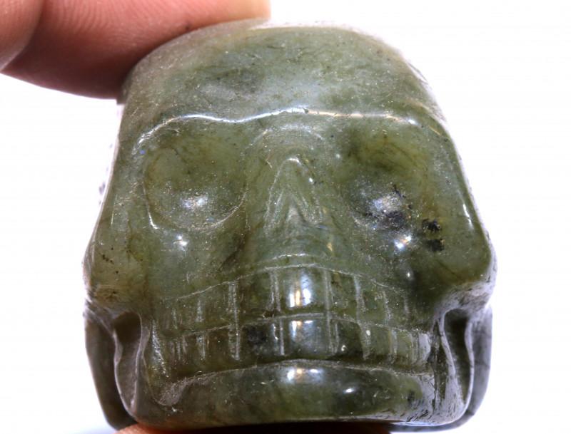 473cts Labodorite Skull Carving  LT-1064 lightningtreasures