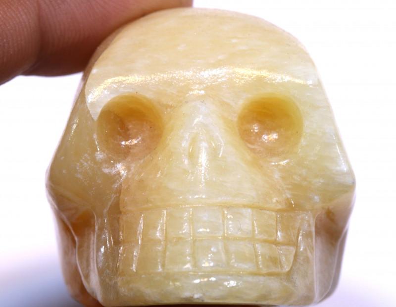 491cts Agate Skull Carving  LT-1068 lightningtreasures