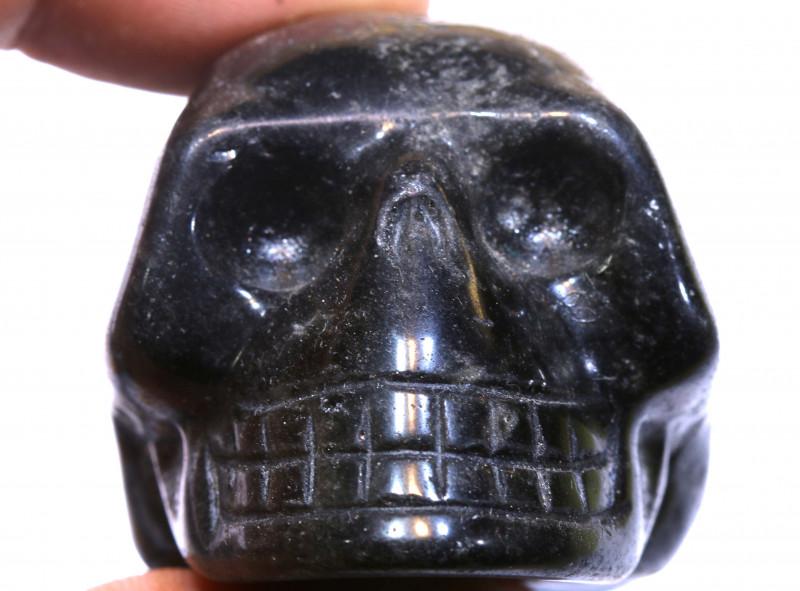 412cts Jasper Skull Carving  LT-1075 lightningtreasures