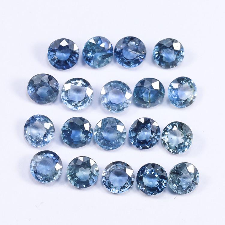 6tcw Natural Blue 4mm Round Ceylon Sapphire Parcel